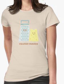 Cheesy Friendship Womens Fitted T-Shirt