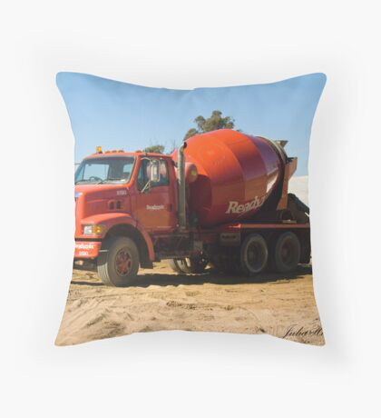 Concrete Truck Throw Pillow