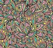 Modern boho botanical floral paisley pattern  by GirlyTrend