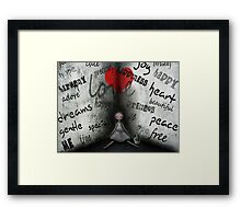 Words from the heart Framed Print