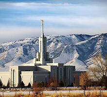 Mount Timpanogos Temple - Winter Morning by Ryan Houston