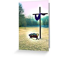 The Cross and Manger Greeting Card