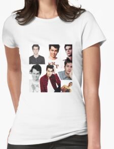Dylan O'Brien Collage Womens Fitted T-Shirt