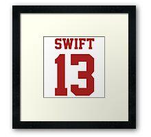 Swift 13 Framed Print