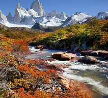 Fitz Roy in the Autumn by Bob Wickham