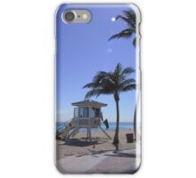 Lifeguard Station  at Fort Lauderdale Beach iPhone Case/Skin