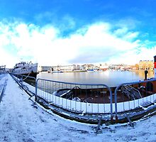 Bristol Floating Harbour in snow by itsrich