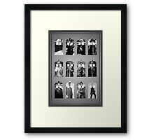 The Twelve Doctors Framed Print