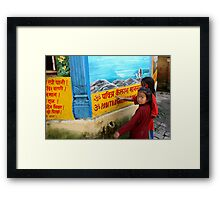 Nepali girls Framed Print