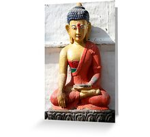 Buddhism statue Greeting Card