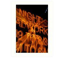 The Nightly Detour Brightly © Vicki Ferrari Photography Art Print