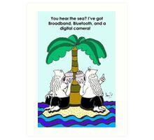 The Desert Island Gag, Art Print