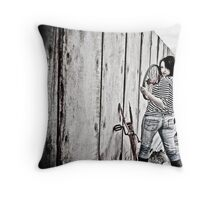 Expressions Of An Urban Girl Throw Pillow