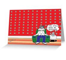 Herbert's very modern life Greeting Card