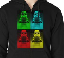 Dave Stormtrooper  Collage  Zipped Hoodie