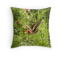 Butterfly and Grasshopper Throw Pillow