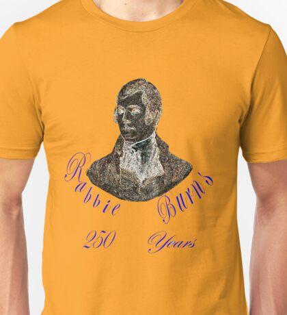 Rabbie Burns 250 Years Unisex T-Shirt