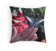 Penang Butterfly Garden Throw Pillow