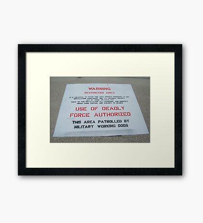 Unlawful Framed Print