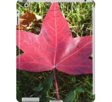 Red Fallen Leaf iPad Case/Skin