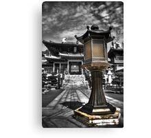 Chi Lin Nunnery Courtyard Lamp Canvas Print