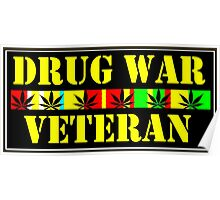 DRUG WAR VETERAN Poster