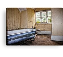 Bathing in grime Canvas Print