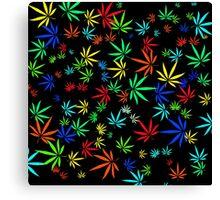 Juicy Marijuana Leaves Canvas Print