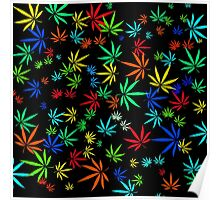 Juicy Marijuana Leaves Poster