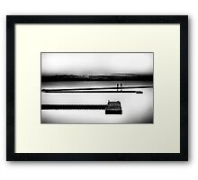 Black & White Sunset Framed Print