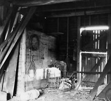 Upstairs in the Wolfe Family Sheep Farm barn by Liz Wolfe