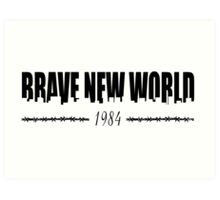 BRAVE NEW WORLD 1984 Art Print