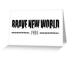 BRAVE NEW WORLD 1984 Greeting Card