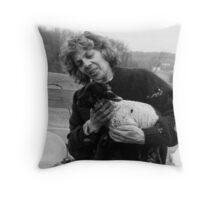 Dolores Wolfe with lamb Throw Pillow