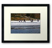 Skaters on Inverleith Pond - Edinburgh II Framed Print