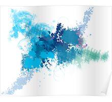 Blue Paint Spill Poster
