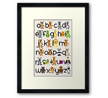 ABC Chart Framed Print
