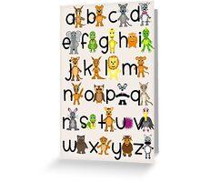 ABC Chart Greeting Card