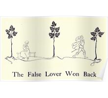 Some British Ballads by Sangorski and Sutcliffe art Arthur Rackham 1919 0176 The False Lover Won Back Poster