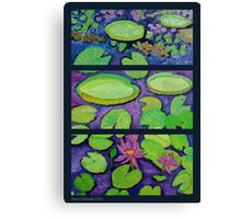 Wild Life of Nature in Water Canvas Print