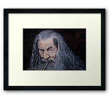 Listen to the Grey Framed Print