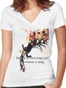 Kingdom Hearts Roxas memory Women's Fitted V-Neck T-Shirt