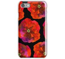 Poppies on black #2 iPhone Case/Skin