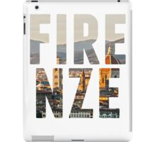 Firenze typography iPad Case/Skin