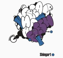 Shingart orignal T - graffattack by David Shing Design / Shingart