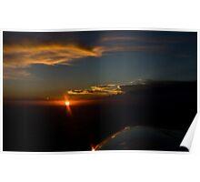 Inflight Sunset Poster