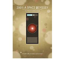 2001: A Space Odyssey - Minimal Poster Print Photographic Print