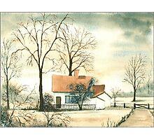 Cottage Scene Photographic Print
