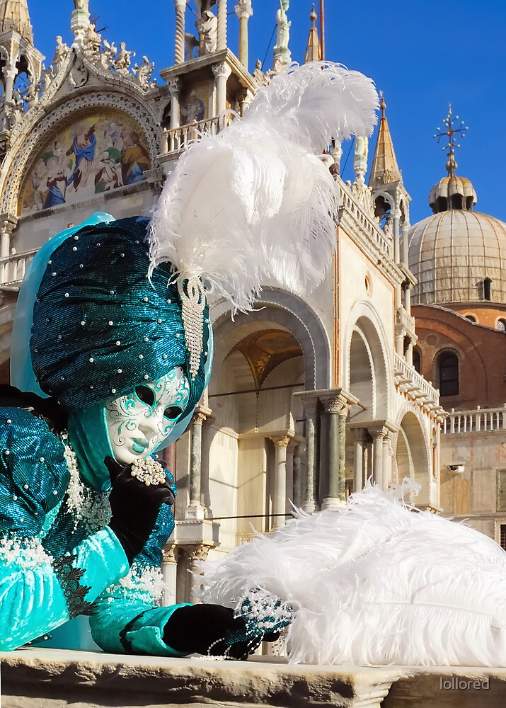 Venice carnival mask, plumes in Saint  by lollored