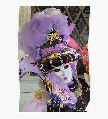 Venice carnival mask Poster